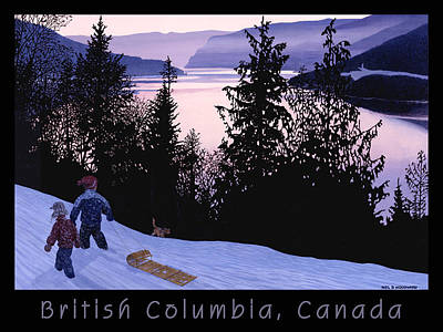 Winter Sports Digital Art - Bc Thompson River Poster by Neil Woodward