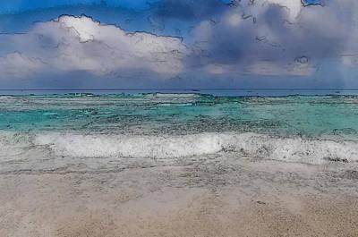 Thomas Kinkade Rights Managed Images - Beach Background Royalty-Free Image by Brandon Bourdages