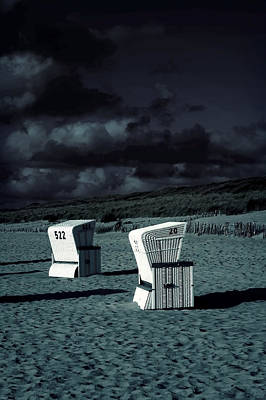 Beach Chairs Art Print by Joana Kruse