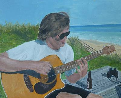 Beach Music Art Print by John Terry