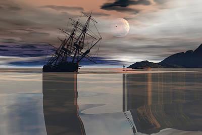 Digital Art - Beached by Claude McCoy