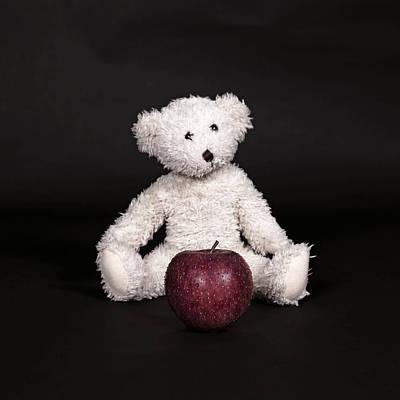 Bear And Apple Art Print by Joana Kruse