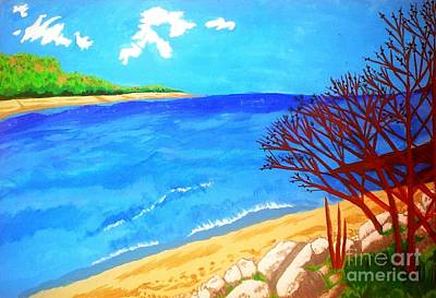 Painting - Beautiful Blue Lake by Josie Weir