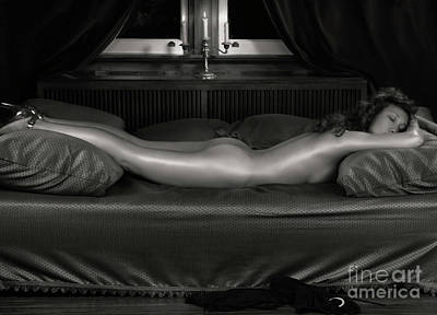 Vintage Erotica Photograph - Beautiful Woman Sleeping Naked by Oleksiy Maksymenko