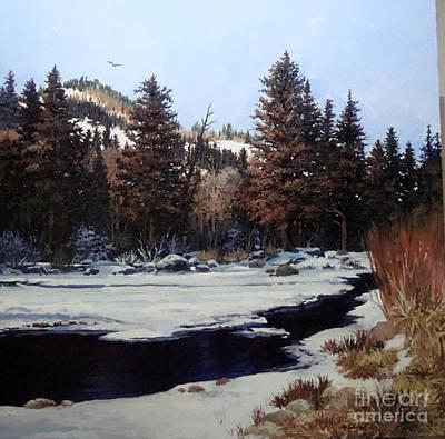 Beaver Creek Art Print by W  Scott Fenton