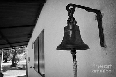 bell outside a small historic typical farm in Colonia Del Sacramento Uruguay South America Art Print