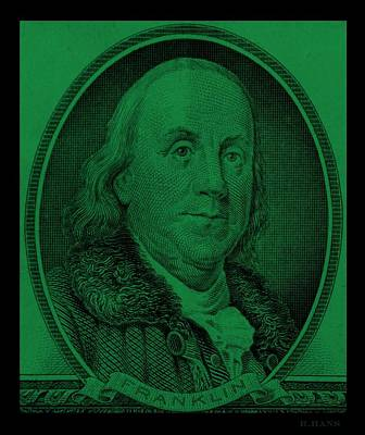 Photograph - Ben Franklin In Dark Green by Rob Hans