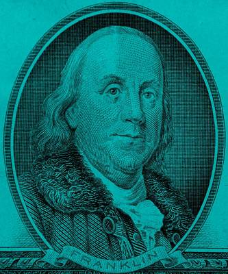 Photograph - Ben Franklin In Turquois by Rob Hans