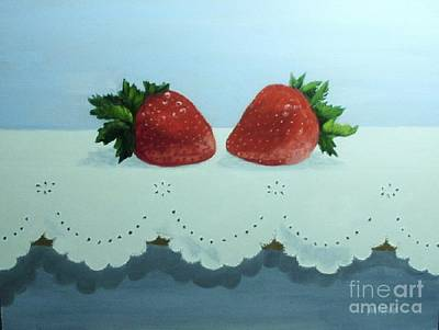 Berries And Lace Art Print by Peggy Miller