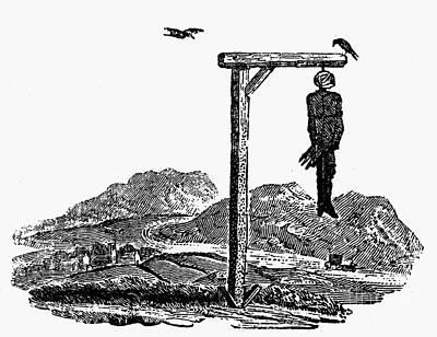 Bewick: Hanged Man Art Print by Granger