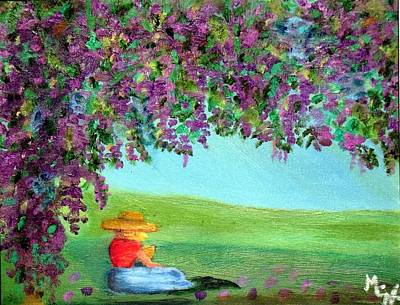 Painting - Beyond The Arbor by Margaret Harmon