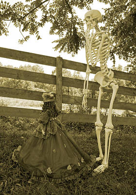 Bones Photograph - Beyond The Fence by Betsy Knapp