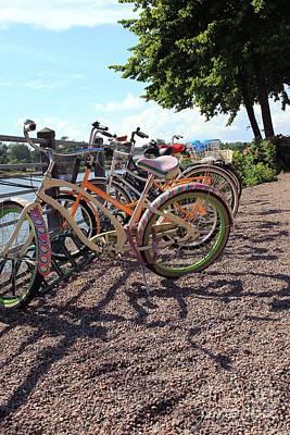 Bicycles Print by Sophie Vigneault