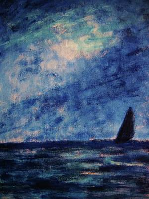 Art Print featuring the painting Big Blue by John Scates