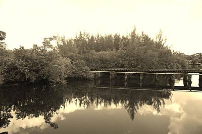 Photograph - Big Sky On The North Fork River In Sepia by Rob Hans