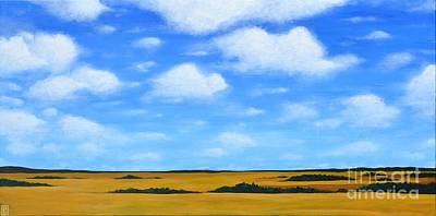 Painting - Big Sky Prairie by Holly Donohoe