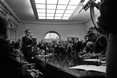 Bill Moyers, Lyndon Johnsons Press Art Print