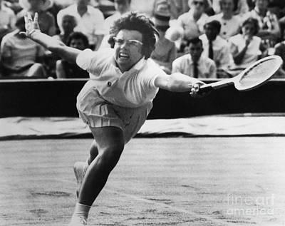 Billie Jean King (1943- ) Art Print by Granger