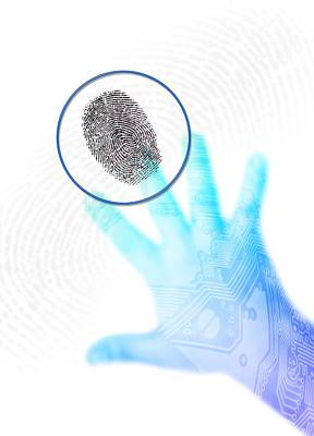 Biometric Security, Artwork Art Print by Victor Habbick Visions