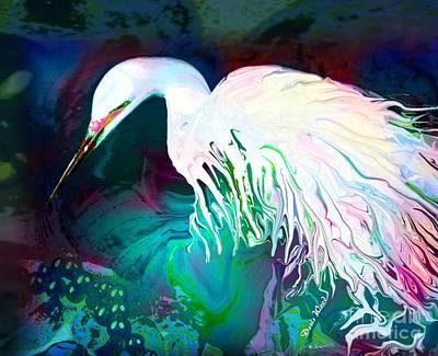 Bird Of Paradise Art Print by Doris Wood