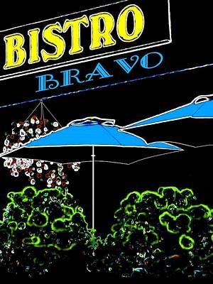 Digital Art - Bistro Bravo by Will Borden