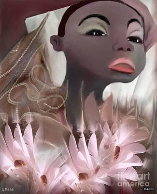 Afro Mixed Media - Black Beauty by Belinda Threeths