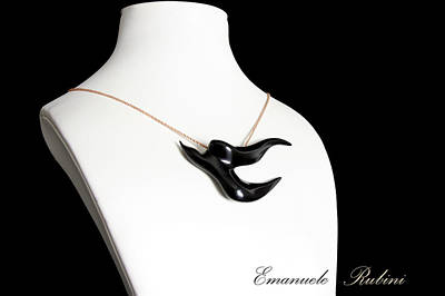 Gioielli Jewelry - Black  Swallow Rondine Nera Unique Jewel Of The Collection Dedicated To Amy Winehouse by Emanuele Rubini