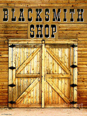Photograph - Blacksmith Shop by Cristophers Dream Artistry