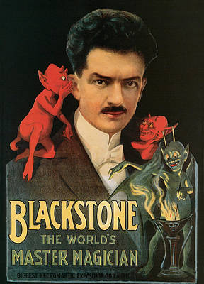 Painting - Blackstone The World's Master Magician by Unknown