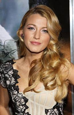 Alice Tully Hall At Lincoln Center Photograph - Blake Lively At Arrivals For Where The by Everett