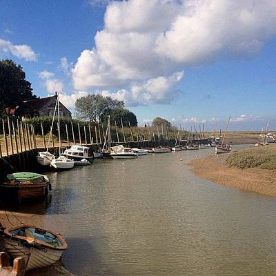 Norfolk Photograph - Blakeney Norfolk #iphoneography by Dave Lee