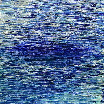 Priska Wettstein Land Shapes Series - Blue 1 by Rozita Fogelman