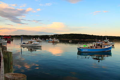 Photograph - Blue Boat by Doug Mills