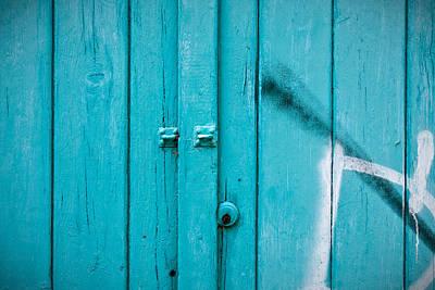 Photograph - Blue Door by Tom Gowanlock