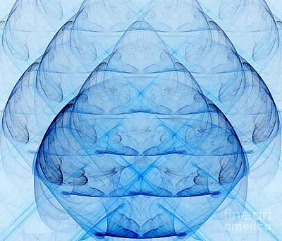 Unreal Digital Art - Blue Glass by Yali Shi