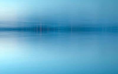 Teton Digital Art - Blue Lake by Odon Czintos