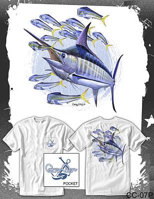 Bonefish Digital Art - Blue Marlin by Carey Chen