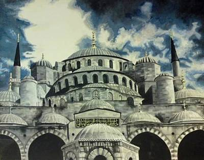 Painting - Blue Mosque Istanbul by Salwa  Najm