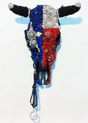 Sculpture - Blue Ribbon by Reginald Charles Adams