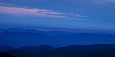 Blue Sky Photograph - Blue Ridge Panorama by Andrew Soundarajan