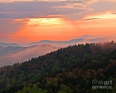 Blue Ridge Sunset Print by Bob and Nancy Kendrick