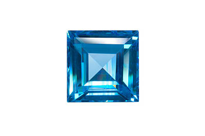 Blue Sapphire Isolated Art Print
