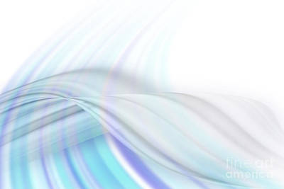 Whorl Photograph - Blue Swirl Background by Blink Images
