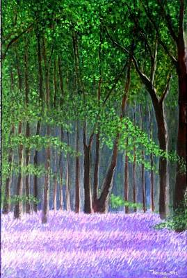 Painting - Bluebells Forest by Marie-Line Vasseur