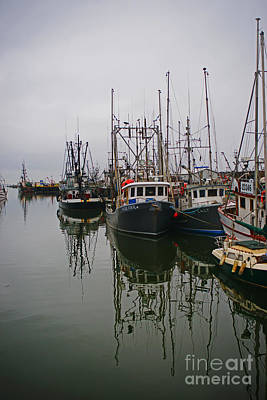 Travel Rights Managed Images - Boat Reflections Royalty-Free Image by Randy Harris