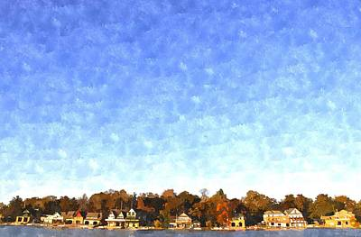 Digital Art - Boathouse Row by Andrew Dinh