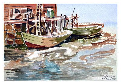 Boats At The Pier Art Print
