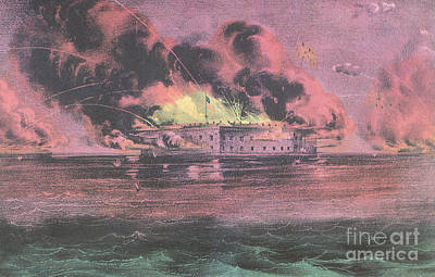 Bombardment Of Fort Sumter, Charleston Art Print