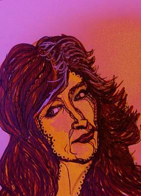 Famous Women Singers Drawing - Bonnie Raitt  by Gerri Rowan