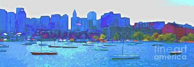 Photograph - Boston Harbor by Julie Lueders